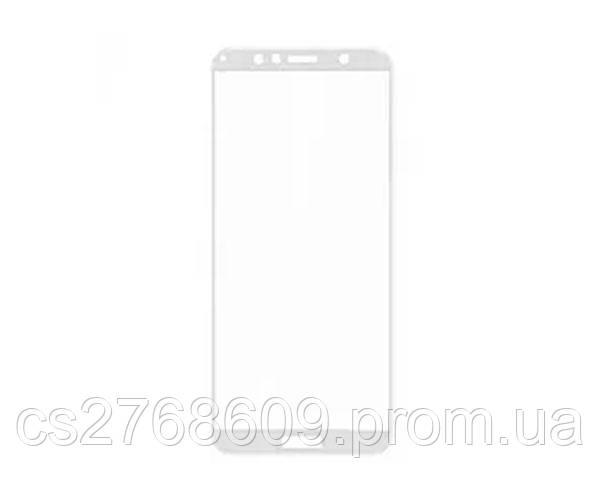 Защитное стекло захисне скло Huawei Y6 2018, ATU-L21, Y6 Prime 2018, ATU-L31, MED-LX9N, Honor 7A Pro, AUM-L29 білий 5D (тех.пак)