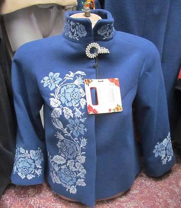 """Напів-пальто жіноче з вишивкою"""" Троянда """", фото 2"""