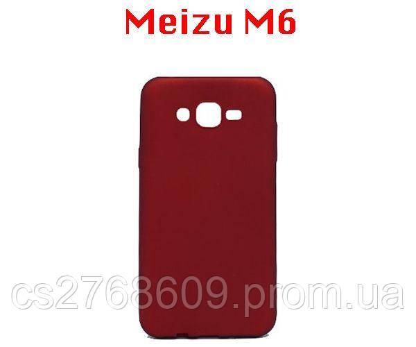 """Чехол силікон """"VIP"""" Meizu M6 червоний"""