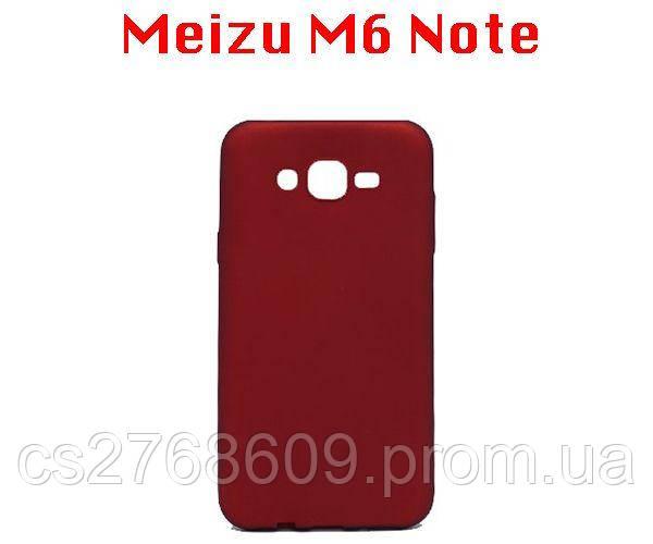 "Чехол силікон ""VIP"" Meizu M6 Note червоний"