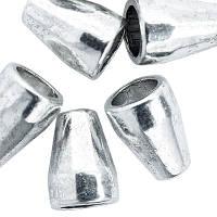 Конус Шапочки для Бусин, Металлические, Цвет: Античное Серебро, Размер: 11х8мм, Отверстие 5.5мм и 2.5мм, (УТ0010109)
