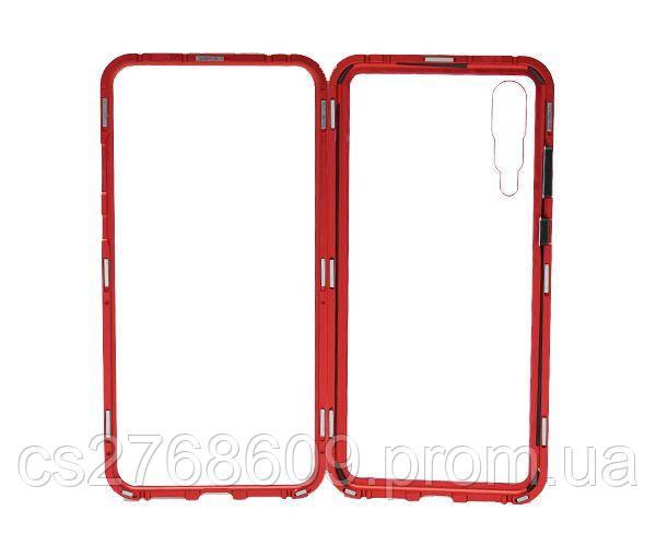 Бампер Металевий-Скляний Huawei P20 Pro червоний