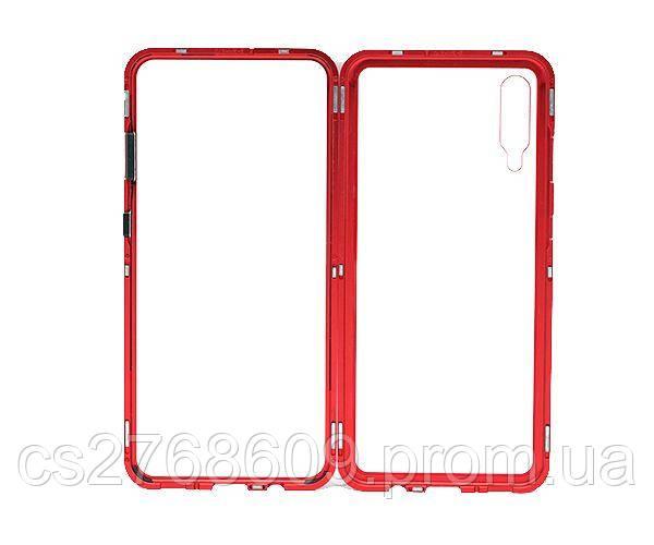 Бампер Металевий-Скляний Samsung A705, A70 2019 червоний