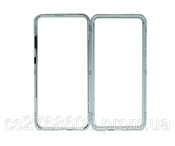 Бампер Металевий-Скляний Samsung A705, A70 2019 сірий