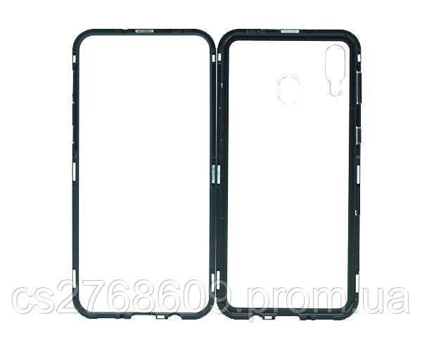Бампер Металевий-Скляний Samsung M205, M20 2019 чорний