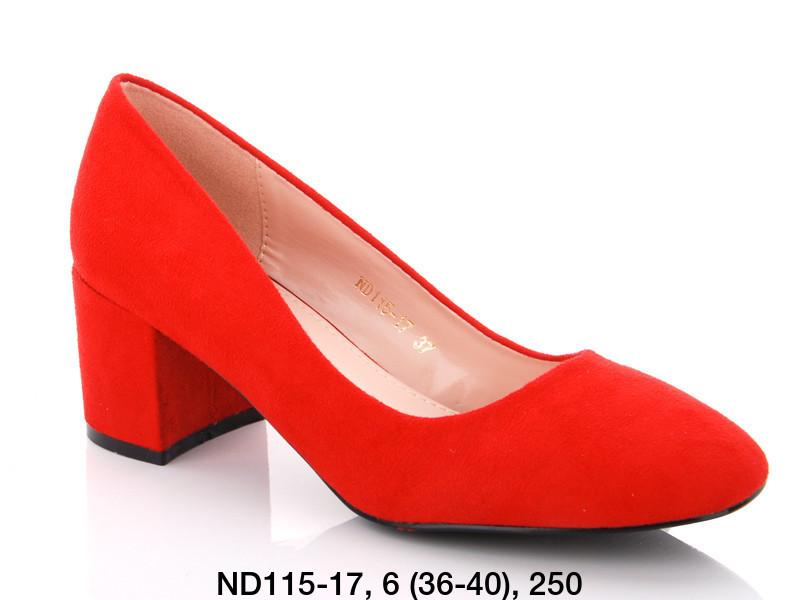 Туфли женские на каблуке красные Teetspace-Trasta-Egga-ND115-17