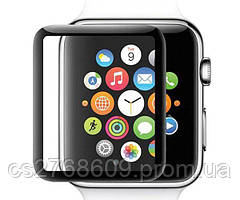 Защитное стекло захисне скло Apple Watch 44mm чорне 5D без упаковки