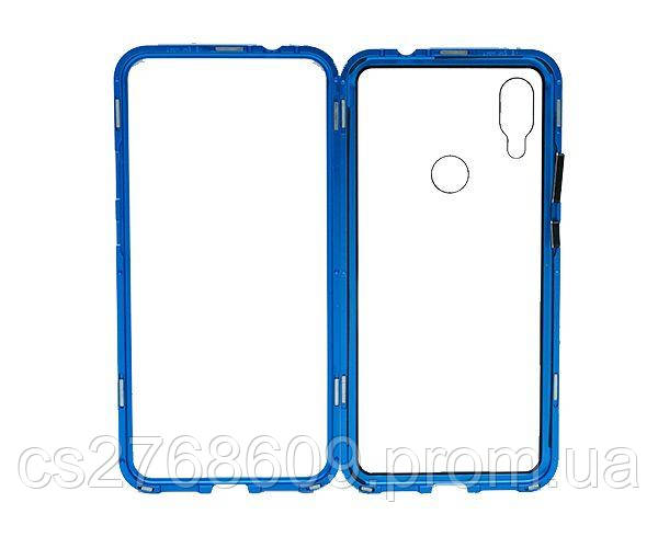 Бампер Металевий-Скляний Xiaomi Redmi 7 синій