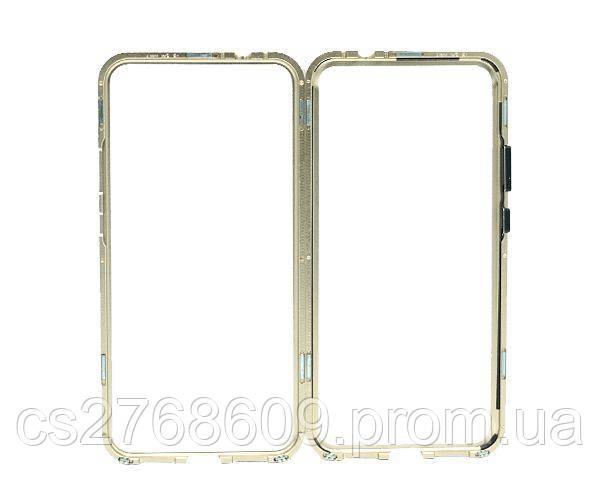 Бампер Металевий-Скляний Xiaomi Redmi 7 золотий
