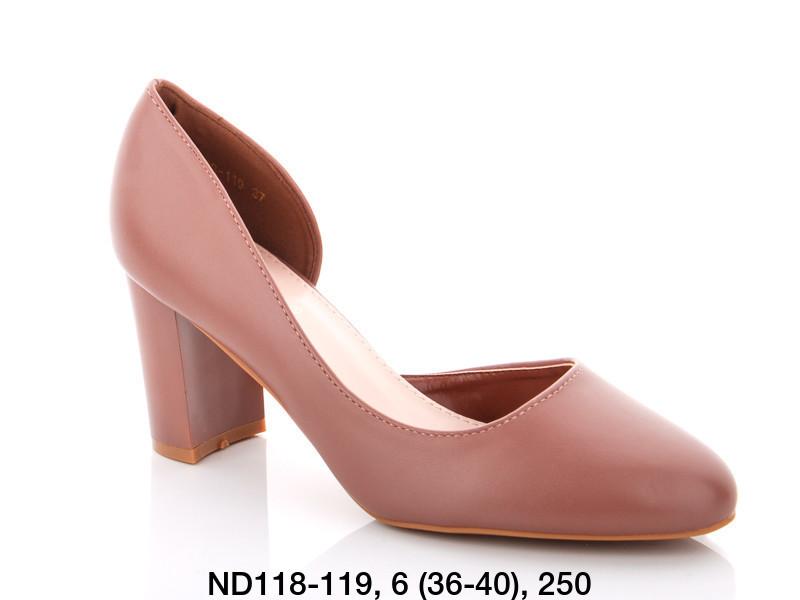 Туфли женские на каблуке коричневые Teetspace-Trasta-Egga-ND118-119