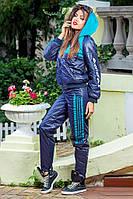 Спортивный женский дутый костюм на синтепоне, только р.С . Арт-1415/17.