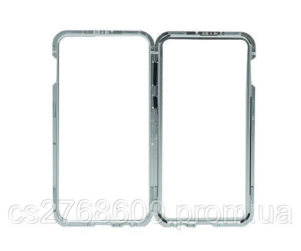 Бампер Металевий-Скляний Samsung S10e, G970 сірий