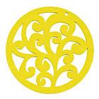 Кулон Деревянный Окрашенный, Круглый плоский, Цвет: Желтый, Размер: 50х2мм, Отв-тие 2мм, (УТ000003768)