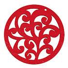 Кулон Деревянный Окрашенный, Круглый плоский, Цвет: Красный, Размер: 50х2мм, Отв-тие 2мм, (УТ000003766)