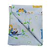 Комплект для прогулки (комплект в коляску) хлопок / плюш (совушки на голубом / желтый), фото 3
