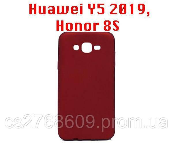 "Чехол силікон ""VIP"" Huawei Y5 2019, Honor 8S червоний"