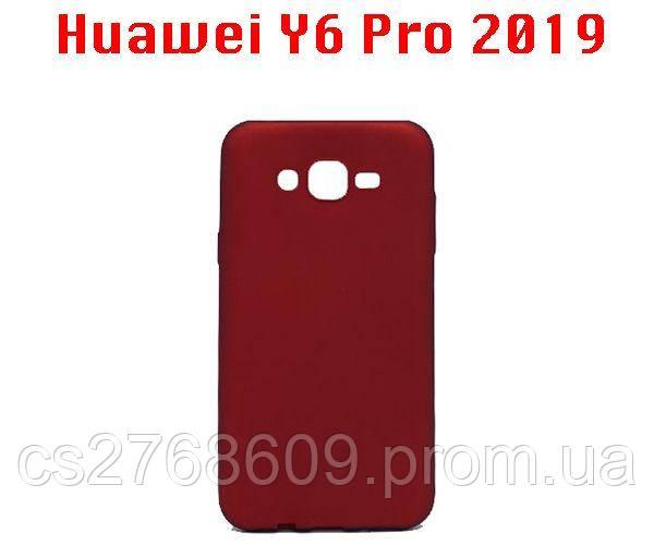 "Чехол силікон ""VIP"" Huawei Y6 2019, Honor 8A червоний"