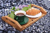 Деревянный поднос для завтраков из дуба 33,5х22х5,5 см LineWood