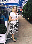 Платье сарафан белый коттон летний джинс  50,56,58, пл 158., фото 2