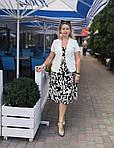 Платье сарафан белый коттон летний джинс  50,56,58, пл 158., фото 4