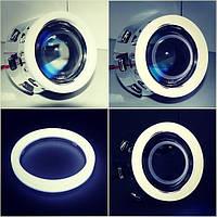 Светодиодные ангельские глазки LED matte glow 95mm