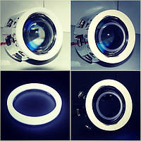 Светодиодные ангельские глазки LED matte glow 95mm, фото 1