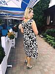 Платье сарафан белый коттон летний джинс  50,56,58, пл 158., фото 3