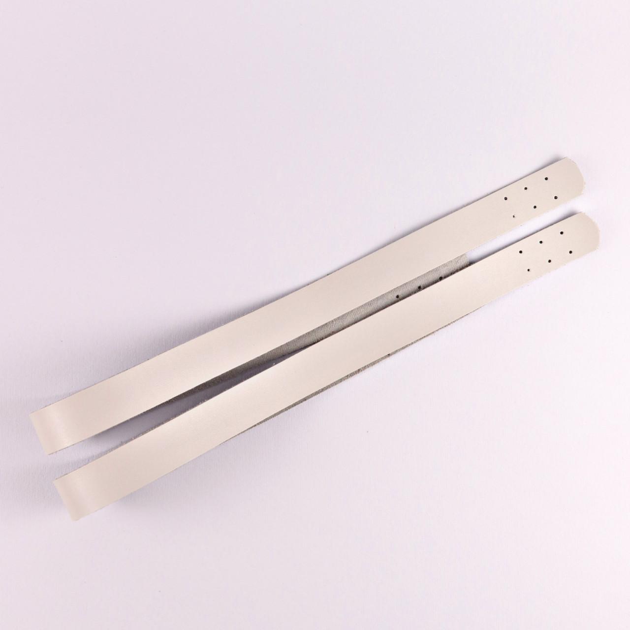 Комплект ручек пришивных Белый 69х2,7 см, экокожа
