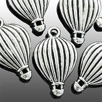 Кулон Воздушный Шар, Металл, Цвет: Античное Серебро, Размер: 21х13х4мм, Отверстие 1.5мм, (УТ0002158)