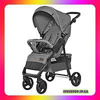 Детская прогулочная коляска CARRELLO Quattro CRL-8502 Shark Grey светло-серый цвет. Дитячий візок
