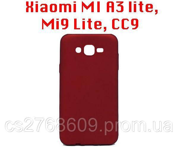 "Чехол силікон ""VIP"" Xiaomi MI A3 lite, Mi9 Lite, CC9 червоний"