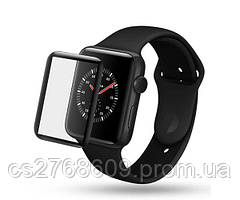 Защитное стекло захисне скло Apple Watch 42mm чорний 5D без упаковки