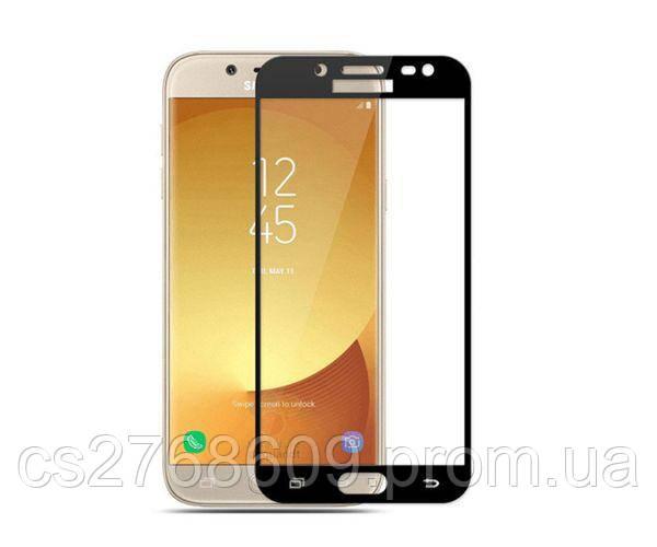 Защитное стекло захисне скло Samsung J300, J310, J320 чорний (тех.пак)