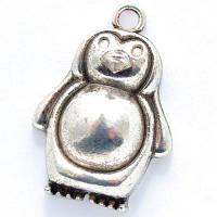 Кулон Пингвин, Металл, Цвет: Античное Серебро, Размер: 23х16х6мм, Отверстие 1.5мм, (УТ000006203)