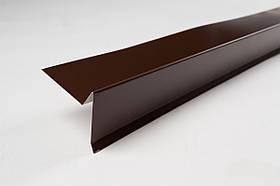Торцевая планка коричневый