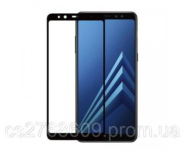 Защитное стекло захисне скло Samsung A730, A8 Plus 2018 чорний 6D (тех.пак)