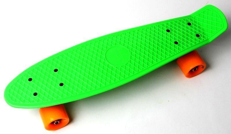 Пенни борд Скейтборд пенни 22 дюйма Penny Board Скейт 55х15 см пластиковый до 80 кг Матовые колеса Салатовый