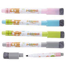 Маркеры для досок Deli 8714 микс набор 4 цвета, детские с губкой, магнитные, фото 2