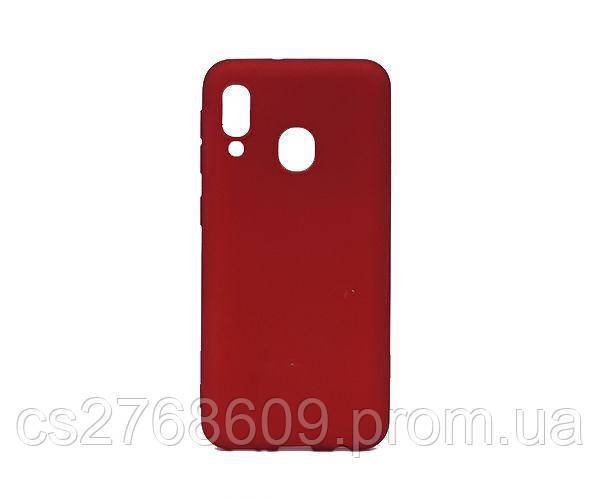 "Чехол силікон ""VIP"" Samsung A202, A20e червоний"