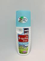 Спрей ультра защита от комаров, клещей, насекомых S-quitofree Ultra protect Insekten schutzspray 100 мл