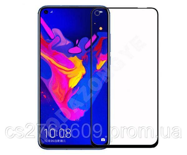 Защитное стекло захисне скло Huawei Honor View 20, Nova 4 чорний 11D (тех.пак)