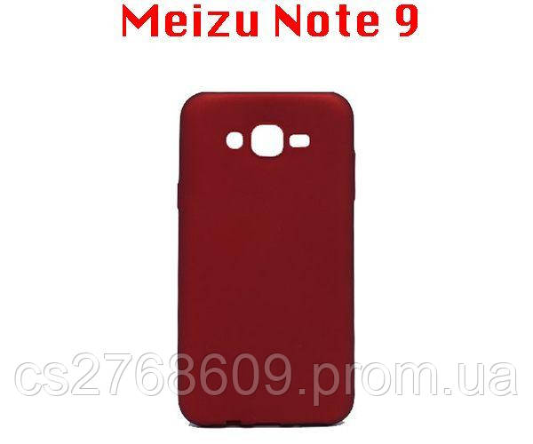 "Чехол силікон ""VIP"" Meizu Note 9 червоний"