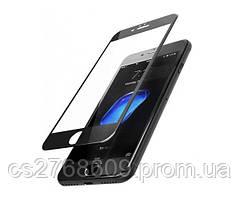 Защитное стекло захисне скло iPhone 6, iPhone 6S чорний D+ (тех.пак)