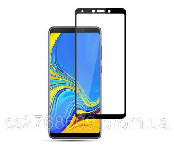 Защитное стекло захисне скло Samsung A920, A9 2018 чорний D+ (тех.пак)