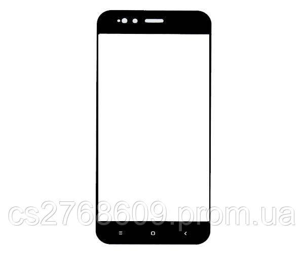 Защитное стекло захисне скло Xiaomi Mi A1, Mi5x чорний D+ (тех.пак)