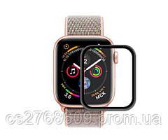 Защитное стекло захисне скло Apple Watch 40mm чорний 5D без упаковки