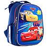 """Школьный рюкзак (ранец) с ортопедической спинкой для мальчика """"Машины"""""""