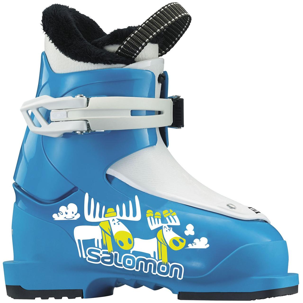 Горнолыжные ботинки детские Salomon t1 blue/white (MD) 16