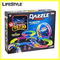 Детский трек для машинок на пульте управления DAZZLE TRACKS 187   Игрушечный трек для машинок   Конструктор