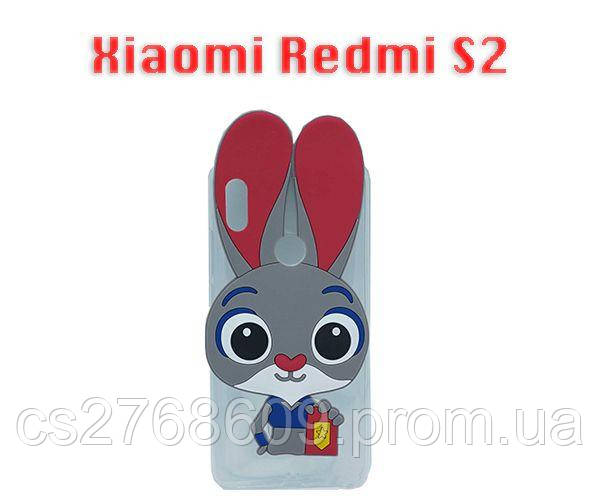 """Чехол силікон """"ЗАЙЧИК"""" Xiaomi Redmi S2"""